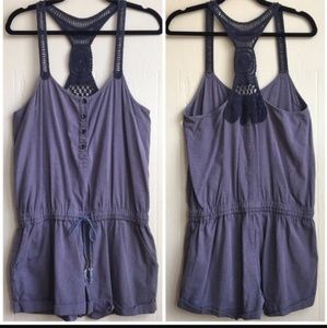 Free people blue romper